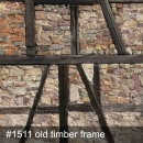 Backart Textil 2,5x2,5 Meter Old Timber Frame Nr. 1511 (Sonderfertigung)