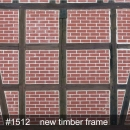 Backart Textil 2,5x2,5 Meter New Timber Frame Nr. 1512 (Sonderfertigung)